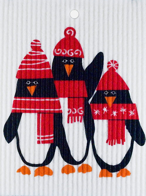Winter Penguins Wash Towel (MIN 6)