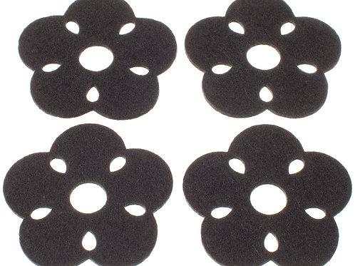 Dark Grey Kukka Coasters, Set of 4
