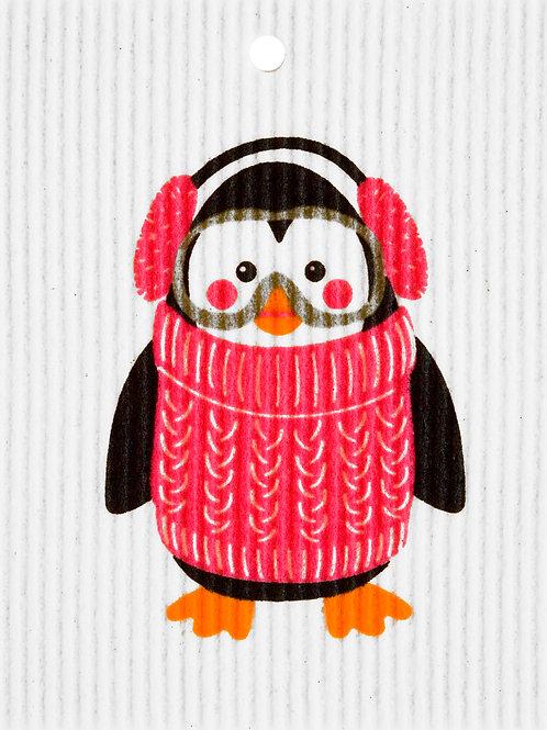 Winter Penguin w/Goggles Wash Towel (MIN 6)
