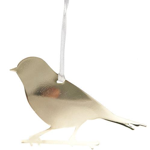 Gold Bird Ornament