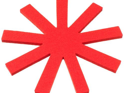 Round Red Olki Trivet