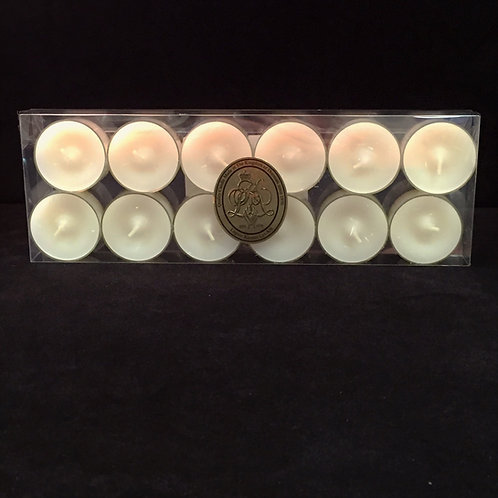 Ivory Vanilla Scented Clear Cup Tealights