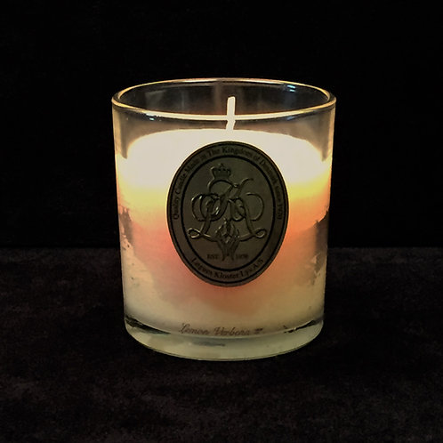 Yellow Lemon Verbena Scented Jar Candle