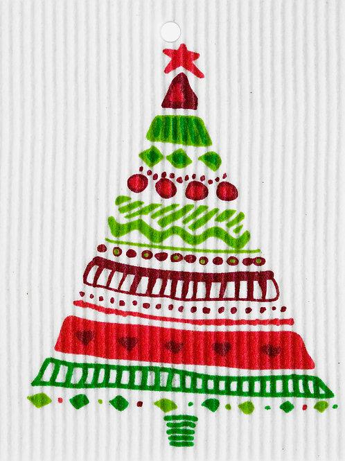 Colorful Christmas Tree Wash Towel (MIN 6)