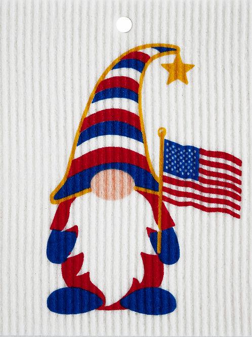 Patriotic Gnome by Harry W. Smith Wash Towel (MIN 6)