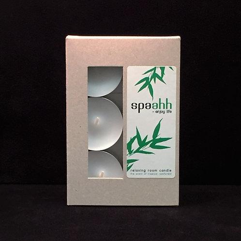 Spaahh Tealights in Metal Cup, 6/box