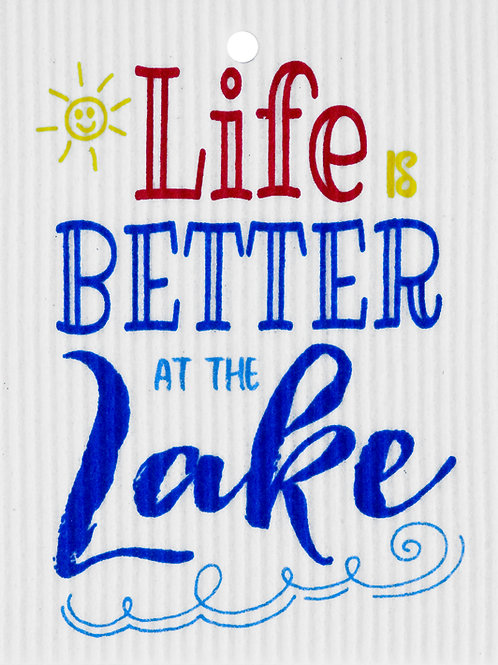 Life is Better at the Lake Wash Towel (MIN 6)
