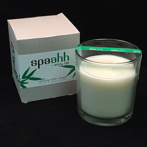 Spaahh Candle in Glass, Boxed