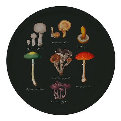 Mushrooms Round Serving Tray