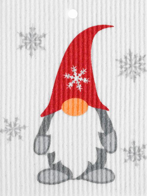 Gnome w/Snowflakes by Harry W. Smith Wash Towel (MIN 6)