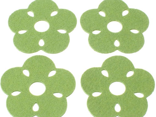 Green Kukka Coasters, Set of 4