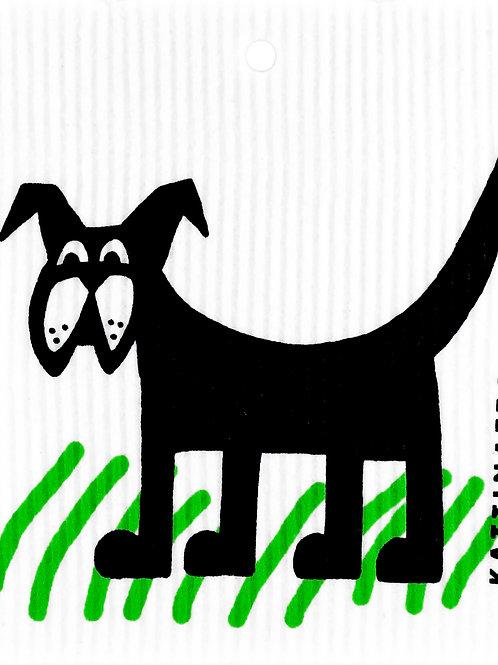 Dog in Grass Wash Towel (MIN 6)
