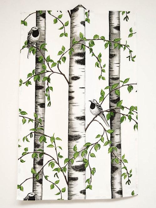Birch Grove w/Bird Hand Towel