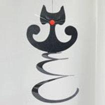 Black Sprial Cat Mobile