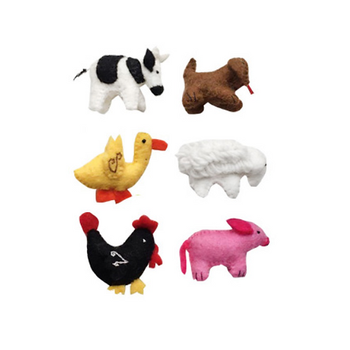 Set of 6 Small Animals