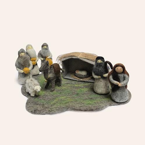 Grey Nativity Set, 9 pcs/set