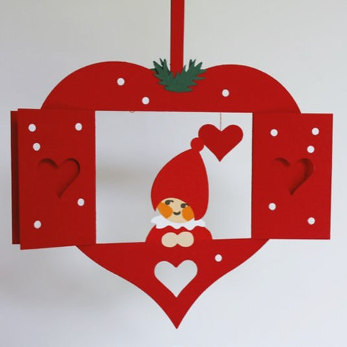Nisse in Heart w/Holly Mobile