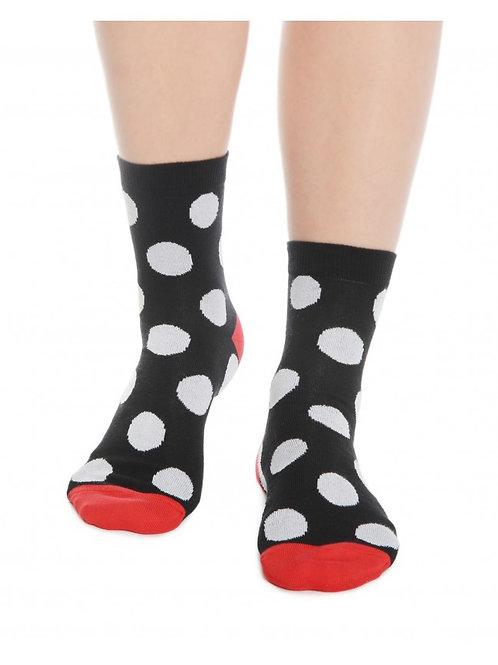 Black & White Polka Dot Women's Socks