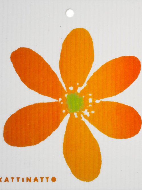 Orange Anemone Wash Towel (MIN 6)