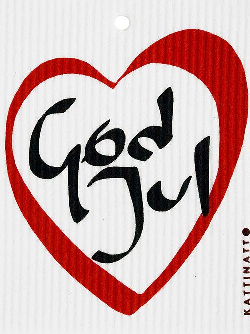 God Jul Heart Wash Towel (MIN 6)