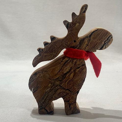 Large Standing Moose w/Scarf