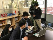 ICO、TBS「報道特集」の取材を受ける