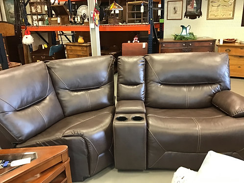 M137 New 3 Piece Brown Seat Couch
