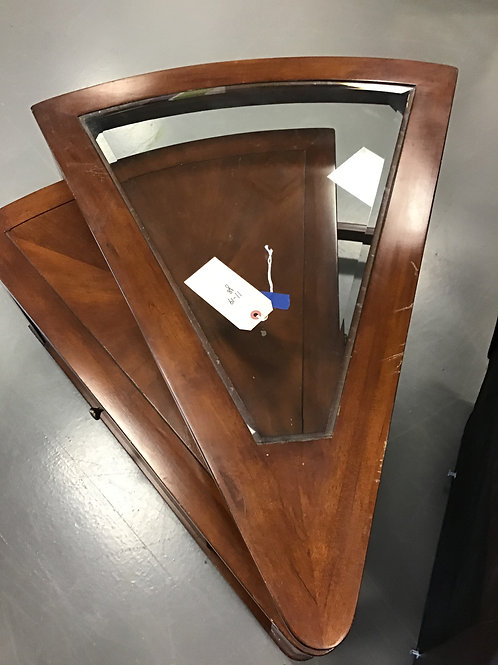 M138 Used Wedge Shaped End Table