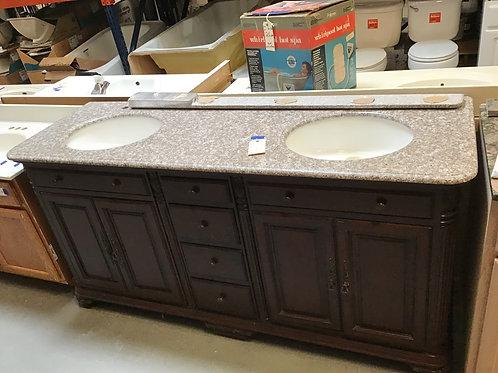 M234 Granite-Top Vanity with 2 Sinks