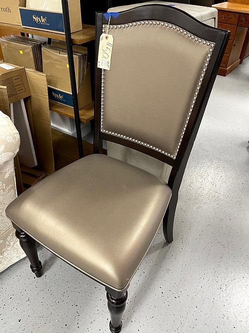 W183 Dining Side Chair - Pear Silver Nail Head