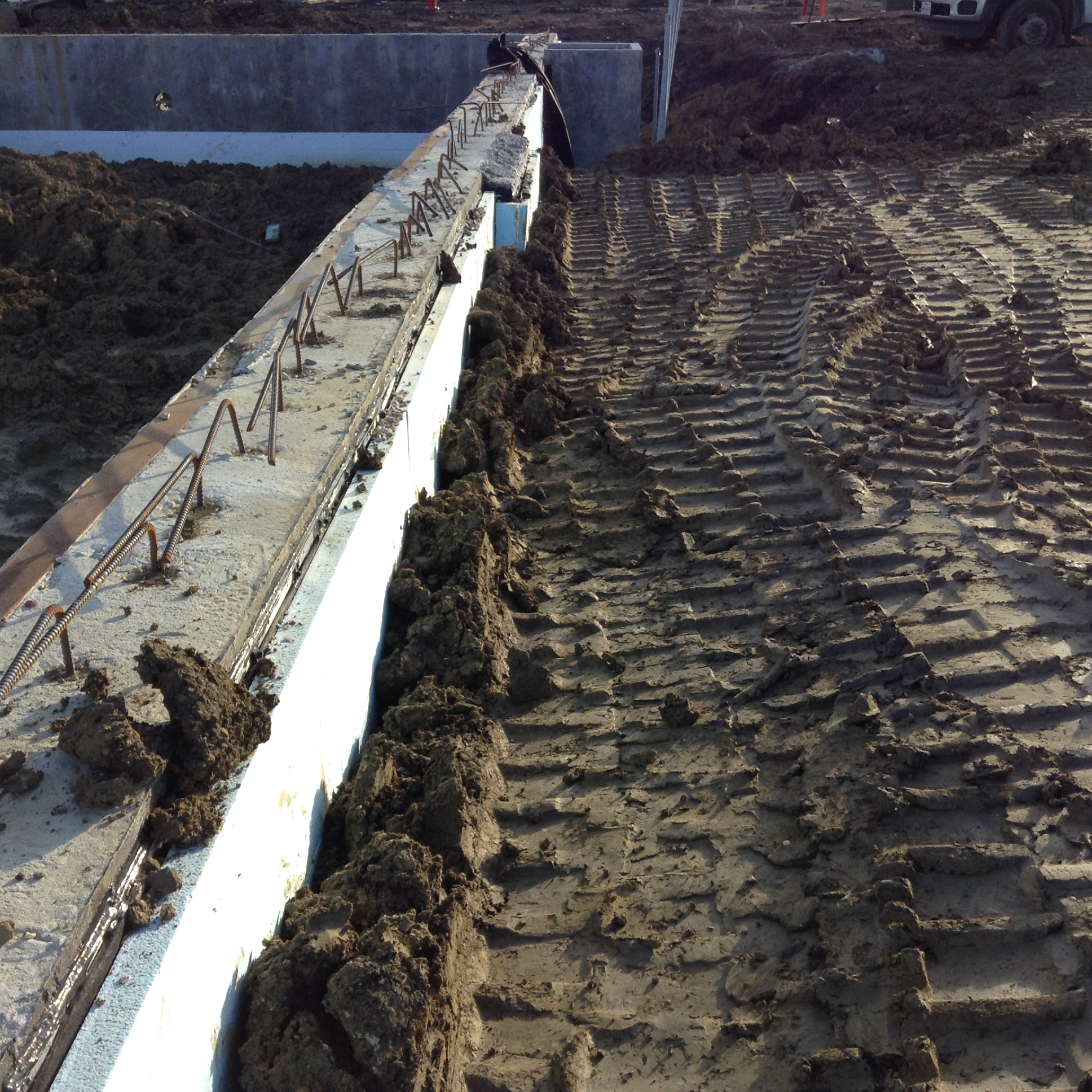 11.24.15 Backfill over French Drain