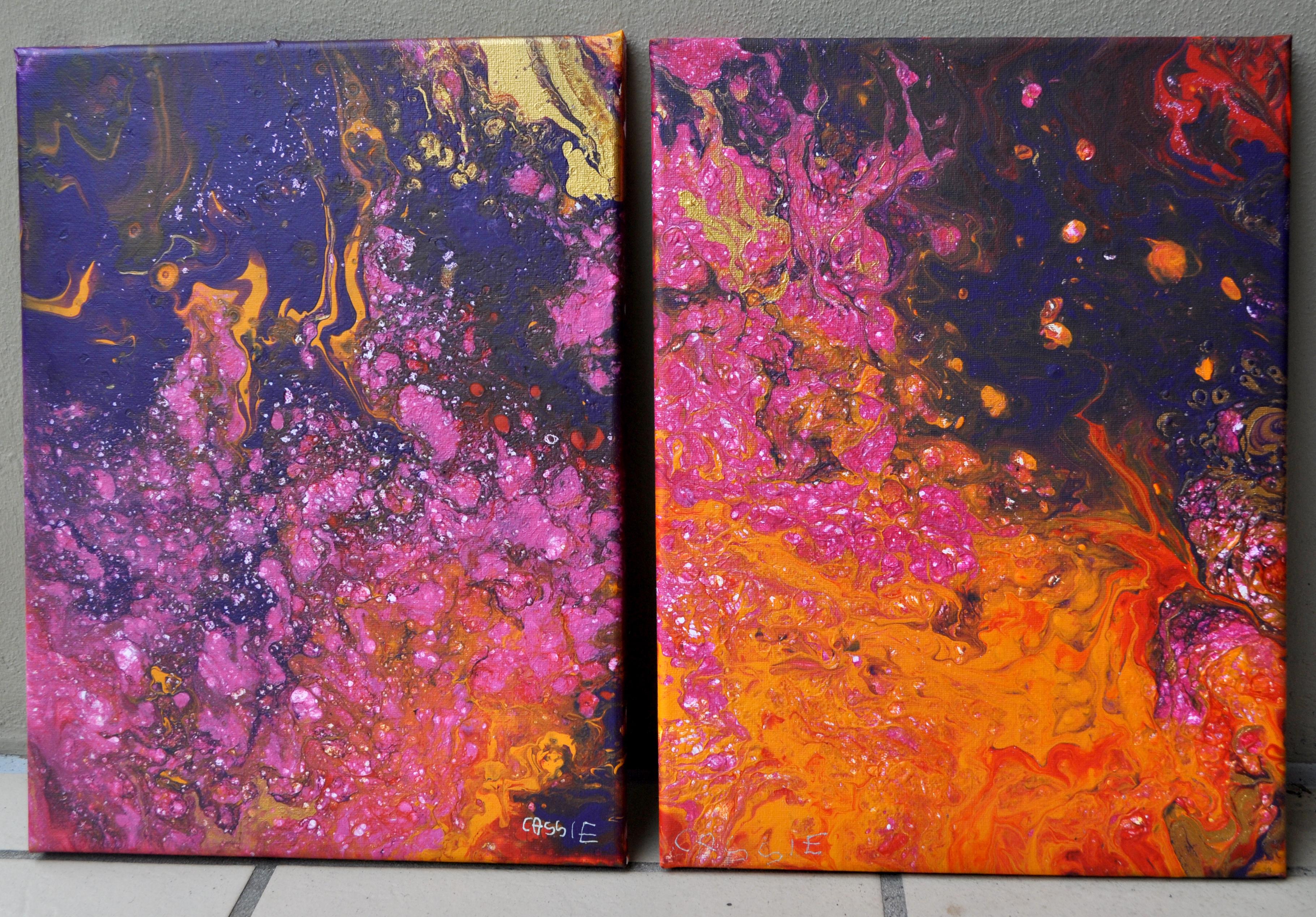 Pink Galaxies 1 & 2