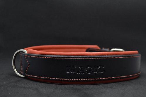 Collier chien Noir /Orange