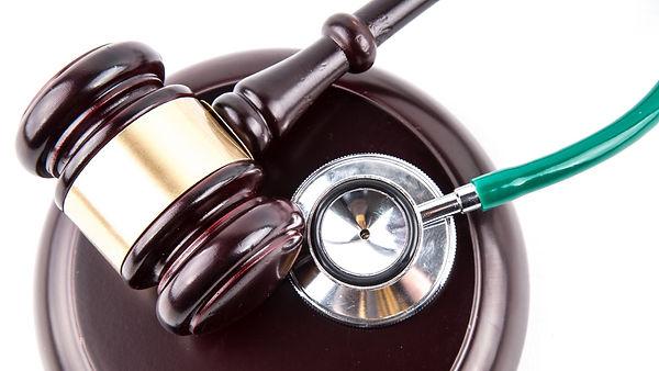 Gavel and stethoscope