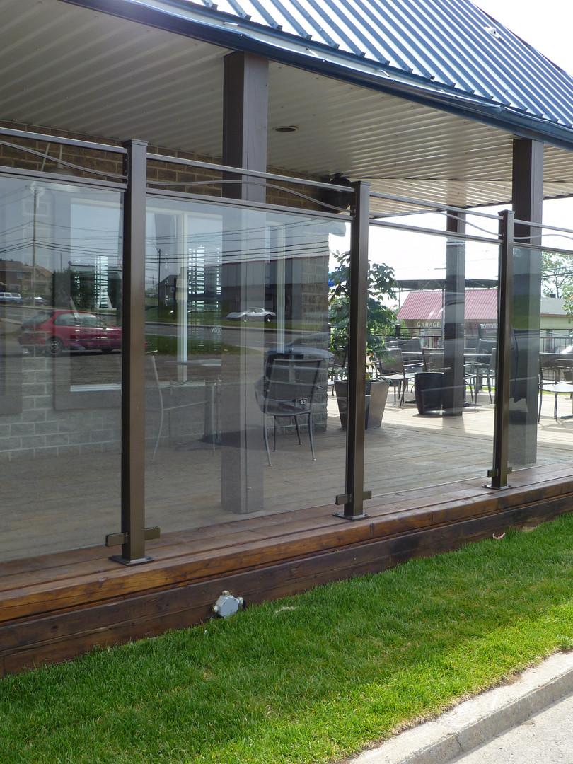 terrasse en verre 6 pied haut