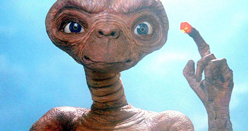 E.T pointing, finger lit up