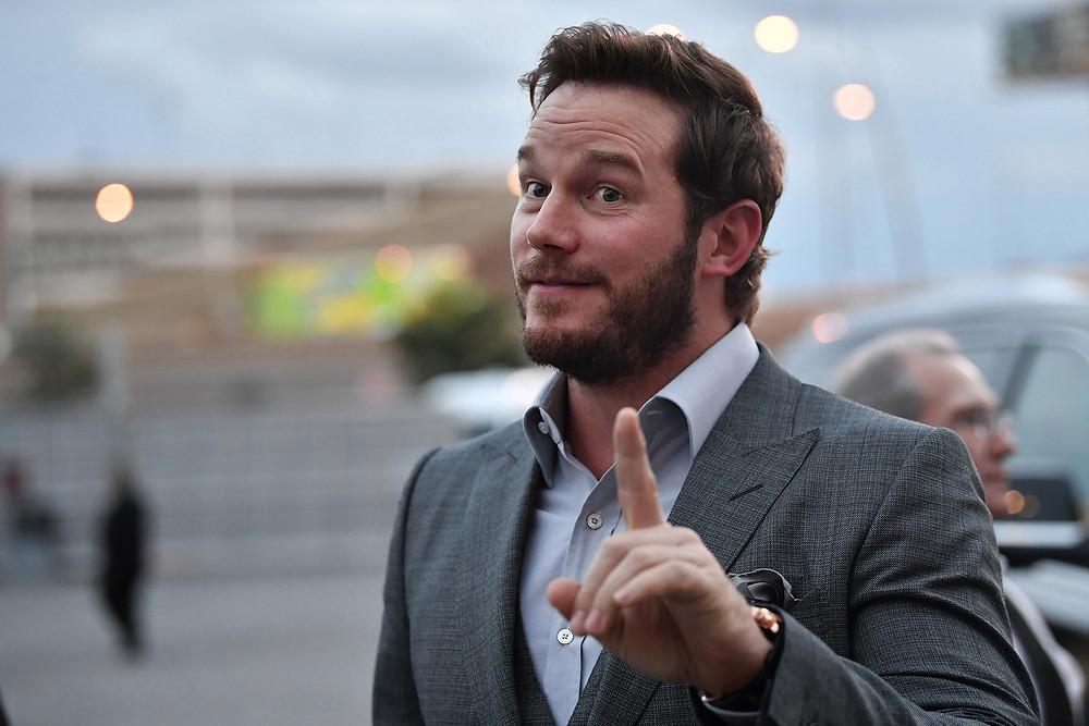 Chris Pratt with finger in the air denies Hillsong Church homophia