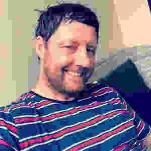 creepy man smiling