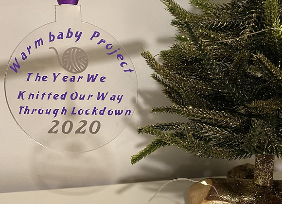 WBP, THE YEAR WE KNITTED OUR WAY THROUGH LOCKDOWN 2020 - Christmas Bauble