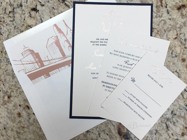 Rose Gold Invitation Suite