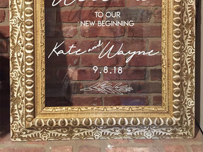 Glass Framed Welcome Sign