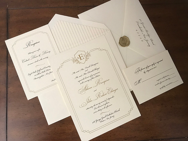 Invitation Suite with Custom Monogram