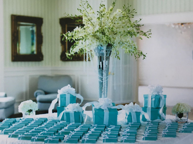 Place Card Table for Tiffany and Co Bridal Shower