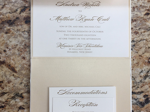 Vertical Pocket Invitation