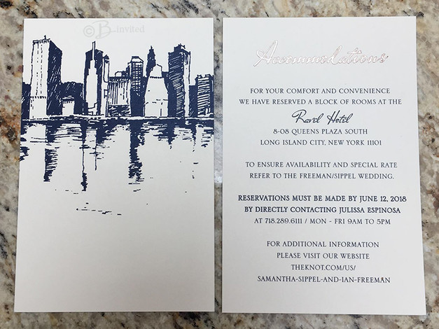 Accommodations Card with Custom Artwork