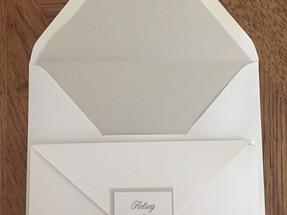 White Pocket Wedding Invitation Envelope and Pocket Front