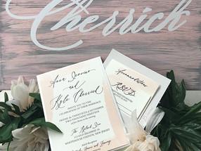 Watercolor Splash Wedding Invitation
