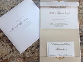 Vertical Pocket Invitation and Envelope