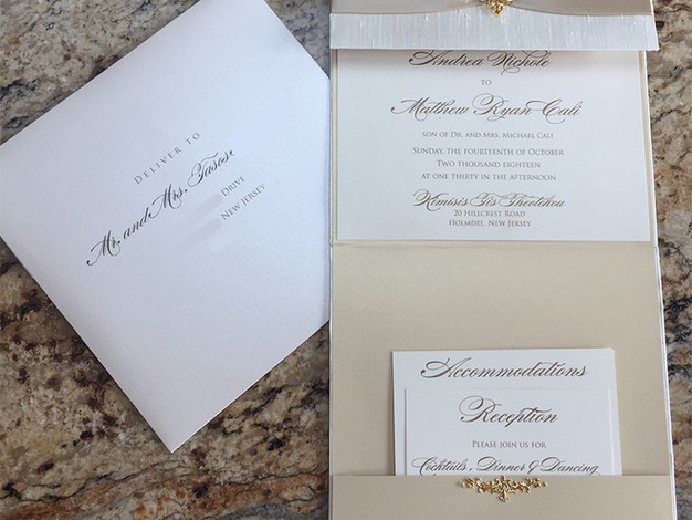 Vertical Pocket Invitation and Envelope
