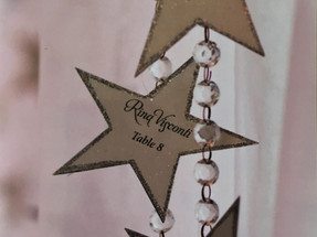 Hanging Star Place Cards